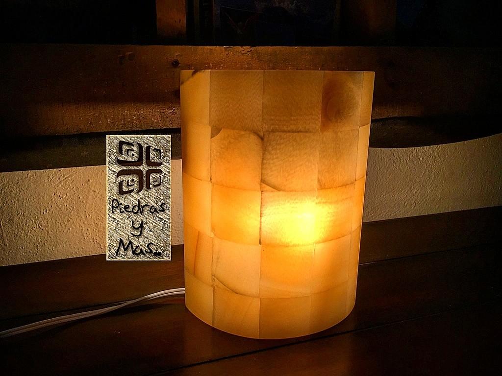 lampara arbotante de onix beige