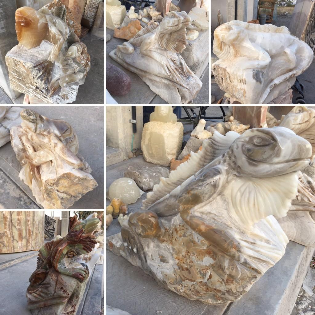 Esculturas en piedras Onix Marmol Cantera